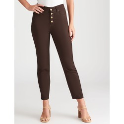 Rockmans 7/8 Length Button Front Henna Jean - Chocolate found on Bargain Bro India from Rockmans for $27.99