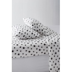 Polar Flannel Sheet Set - White Star - King Single found on Bargain Bro India from Rockmans for $28.24