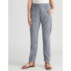 W.lane Linen Hem Detail Crop Pant - French Navy Xdye - 10 found on Bargain Bro from Rockmans for USD $26.29