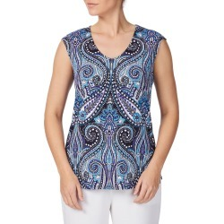 Rockmans Extended Sleeve Side Zip Print Top - Multi - XS found on Bargain Bro Philippines from Rockmans for $8.85