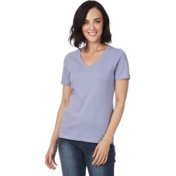 Rockmans Short Sleeve V Neck Tee - Hydrangea - S found on Bargain Bro India from BE ME for $7.72