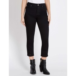 Rockmans Capri Straight Embroidered Detail Jean - Black - 14 found on Bargain Bro Philippines from Rockmans for $14.48