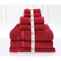 Kingtex 7 Piece Towel Bath Sheet Set - Red - One found on Bargain Bro from Noni B Limited for USD $27.12
