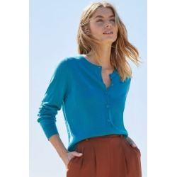 Capture Merino Classic Cardigan - Teal - L found on Bargain Bro from crossroads for USD $23.45