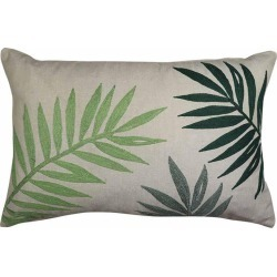 Palms Green Embroidered Lumbar Breakfast Cushion - Multi found on Bargain Bro India from crossroads for $36.87