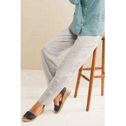 Grace Hill Linen Blend Straight Leg Pant - Grey - 20 found on Bargain Bro Philippines from crossroads for $50.47