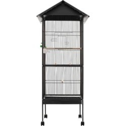 Bird Cage With Roof Steel - Grey