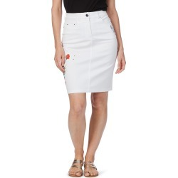 Rockmans Embroidered Poppy Skirt - White found on Bargain Bro India from crossroads for $13.68