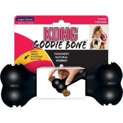 Kong Dog Goodie Bone Food Dispenser Interactive Dog Toy Black Large - Multi