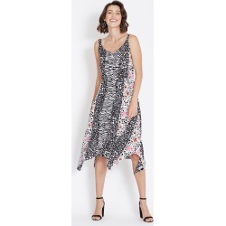 Rockmans Sleeveless Animal Print Midi Dress - Multi - 12 found on Bargain Bro India from BE ME for $21.11