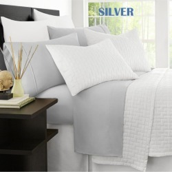 Ramesses Original 2000tc Cooling Bamboo Sheet Set - Silver - King Single found on Bargain Bro from Noni B Limited for USD $31.19
