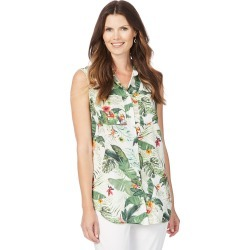 W.lane Sleeveless Printed Longline Shirt - Multi - 8 found on Bargain Bro from Rockmans for USD $11.95