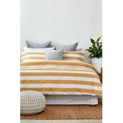 Band Duvet Cover Set - Maize - King Single found on Bargain Bro India from Rockmans for $68.07