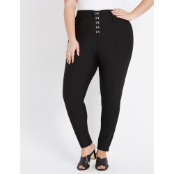 Beme Regular Length Hook Waist Ponte Pant - Black - 16 found on Bargain Bro from Rockmans for USD $40.86