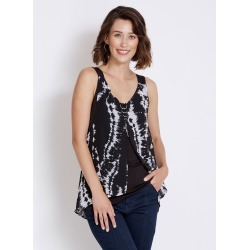 Rockmans Sleeveless Woven Layer Ring Detail Top - Mono - S found on Bargain Bro India from Rockmans for $5.68