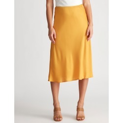 Crossroads Bias Cut Midi Skirt - Mustard - 22 found on Bargain Bro India from BE ME for $14.08