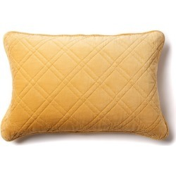 Windsor Quilted Velvet Pillowcases Set Of 2 - Maize - One Size found on Bargain Bro from Noni B Limited for USD $20.55