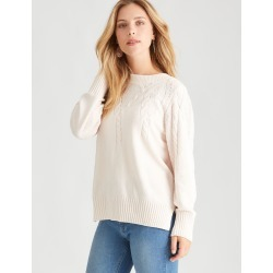 Rockmans Long Sleeve Chenille Cable Knit - Soft Peach - S found on Bargain Bro from Noni B Limited for USD $19.89
