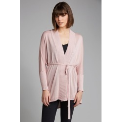 Emerge Tie Back Knit Cardigan - Dusky Pink - L found on Bargain Bro India from Rivers for $17.51