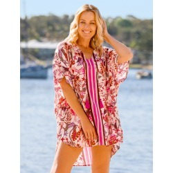 Rivers Textured Kaftan - Pink found on Bargain Bro from crossroads for USD $15.78