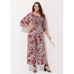 Crossroads Shirred Long Sleeve Jumpsuit - Print Floral - 18 found on Bargain Bro India from Rockmans for $27.36