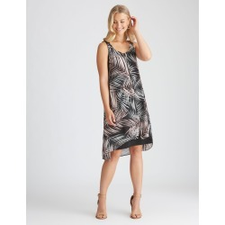 Rockmans Woven Layer Dress - Multi Palm - 12 found on Bargain Bro Philippines from crossroads for $14.14