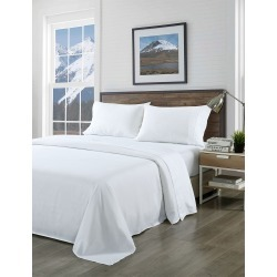 Royal Comfort 1000tc Pure Soft Bamboo Blend Sheet Set - White - Double found on Bargain Bro from Noni B Limited for USD $21.72