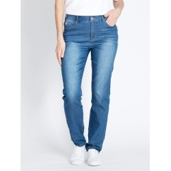 Rockmans Full Length Contrast Godet Stud Jean - Blue Wash - 12 found on Bargain Bro India from Noni B Limited for $14.08