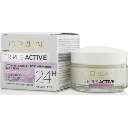 L'oreal Triple Active Multi-protective Day Cream 24h Hydration - For Dry/ Sensitive Skin - 50ml found on Bargain Bro from BE ME for USD $15.68