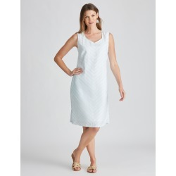 W.lane Textured Stripe Linen Dress - Mint - 8 found on Bargain Bro Philippines from W Lane for $15.72