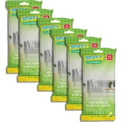 Spiffy Cleaning Household Surface Wipes 6x 60pk - White - One found on Bargain Bro Philippines from crossroads for $15.68