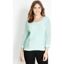 Crossroads 3/4 Side Stitch Knit Jumper - Mint - S found on Bargain Bro from BE ME for USD $23.40