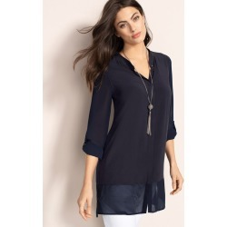 Capture Chiffon Trim Tunic - Navy - 8 found on Bargain Bro Philippines from Rivers for $25.82