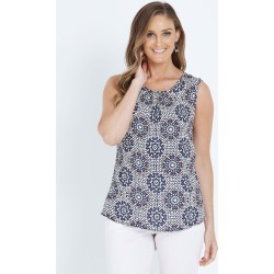 W.lane Pleat Printed Blouse - Multi - 8 found on Bargain Bro India from Rockmans for $16.55