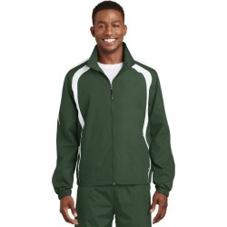 Sport-tek Colorblock Raglan Jacket - Forest Green/ White - Forest Green/ White - S found on Bargain Bro India from Rockmans for $39.34