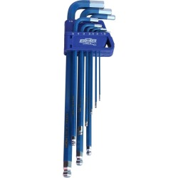 888 Tools Key Set 9pc Metric Ball Drive Hex (blue) - Multi