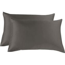 Royal Comfort Mulberry Silk Pillowcase Twin Pack - Charcoal - ONE found on Bargain Bro India from W Lane for $43.44