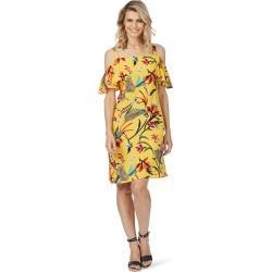 Rockmans Short Sleeve Paradise Print Dress - Multi - 8 found on Bargain Bro India from W Lane for $15.55