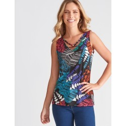 Rockmans Sleeveless Exotic Print Top - Multi - XS found on Bargain Bro Philippines from Rockmans for $8.85