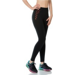 Jerf Womens Split Black Seamless Leggings - L found on Bargain Bro from Noni B Limited for USD $27.00