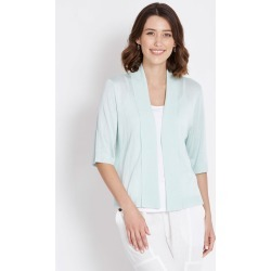 Rockmans Elbow Sleeve Crop Cardi - Opal - L found on Bargain Bro Philippines from Rockmans for $14.48