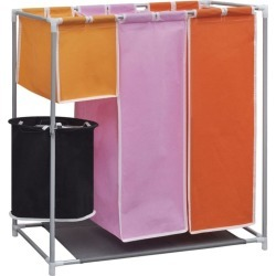 3-section Laundry Sorter Hamper With A Washing Bin - Multi found on Bargain Bro India from crossroads for $50.65