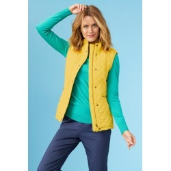 Capture Quilted Puffer Vest - Yellow - 10 found on Bargain Bro from Noni B Limited for USD $29.37