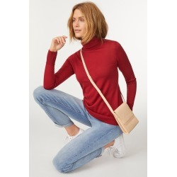 Capture Merino Roll Neck Sweater - Rouge - XL found on Bargain Bro India from BE ME for $44.90