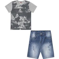 Conjunto Infantil Camiseta e Bermuda Jeans Glinny Masculino - Masculino found on Bargain Bro Philippines from netshoes for $58.76