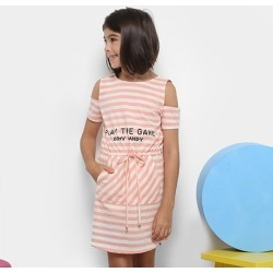 Vestido Infantil Dimy Candy Estampa Listrada - Feminino found on Bargain Bro Philippines from netshoes for $43.12