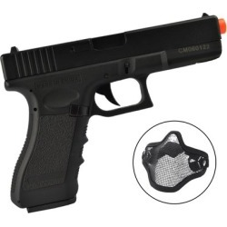 Pistola Airsoft CYMA G18C CM030 c/ Máscara Meia-face - Unissex found on Bargain Bro India from netshoes for $460.31
