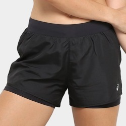 Short Asics Core Running Shorts 2In1 3In Feminino - Feminino