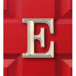 Sand-Cast Monogram Door Knocker By Michael Healy, in Nickel, Letter E found on Bargain Bro India from Plow & Hearth for $59.95