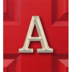 Sand-Cast Monogram Door Knocker By Michael Healy, in Nickel, Letter A found on Bargain Bro India from Plow & Hearth for $59.95